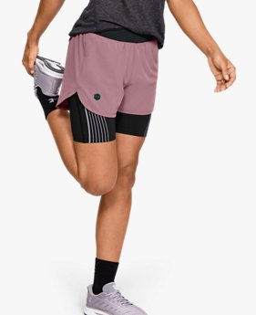 Damesshorts UA RUSH™ Run 2-in-1
