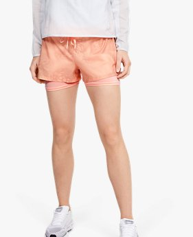 Damen UA Speedpocket Weightless 2-in-1-Shorts