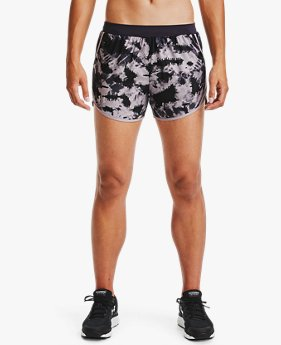 Damen UA Fly-By 2.0 Shorts mit Aufdruck