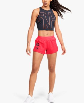 Short UA Launch SW 7,5 cm Get Out & Run pour femme