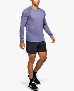 Men's UA Qualifier Speedpocket Branded 7'' Linerless Shorts