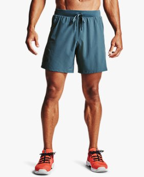 Men's UA Qualifier Speedpocket Branded 18 cm Linerless Shorts