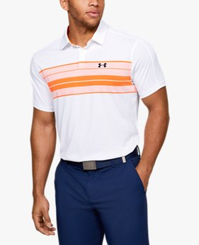 Herenpolo UA Vanish Chest Stripe