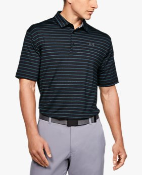Playera UA Playoff Polo Core Stripe para Hombre