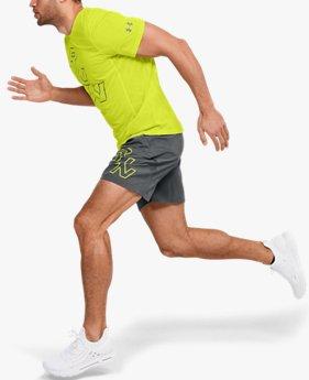 "Men's UA SpeedPocket 7"" Graphic Shorts"