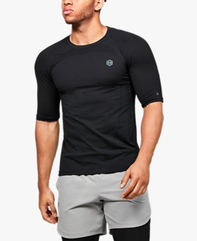 Herenshirt UA RUSH™ Seamless Compression met korte mouwen