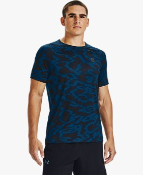Men's UA RUSH™ HeatGear® Fitted Short Sleeve Printed