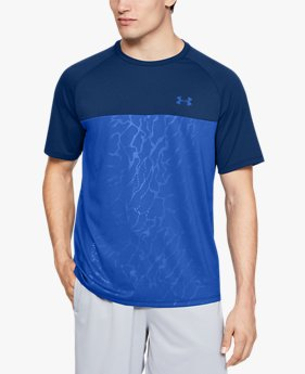 Men's UA Tech™ 2.0 Emboss Short Sleeve