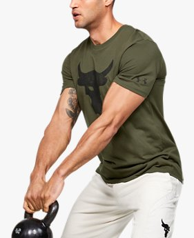 Camiseta de Treino Masculina Under Armour Project Rock Brahma Bull