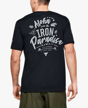Herren Project Rock Iron Paradise Shirt, kurzärmlig