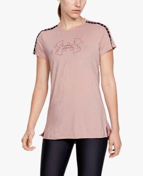 T-shirt à manches courtes UA Armour Sport Branded pour femme