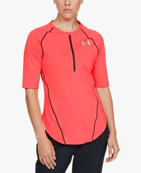 Women's UA Sun Armour Graphic Zip Short Sleeve