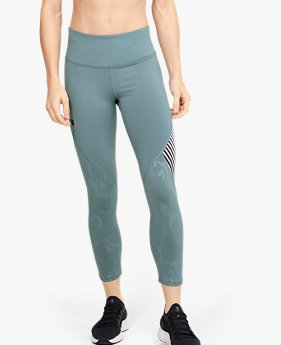 Dameslegging UA RUSH™ Embossed Shine Graphic Crop