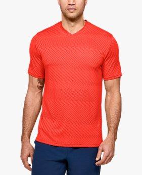 Men's UA Velocity Jacquard V-Neck Short Sleeve