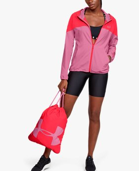 Women's UA Woven Branded Full Zip Hoodie