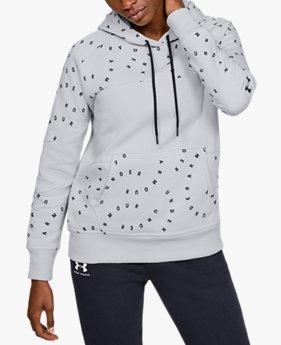 Sweat à capuche UA Rival Fleece Printed pour femme