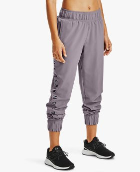 Women's UA Woven Branded Trousers
