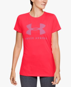 Women's UA Tech™ Logo Graphic Short Sleeve Crew