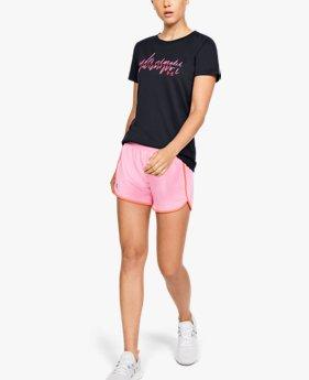 Kadın UA Tech™ Branded Fit Kit Kısa Kollu Crew