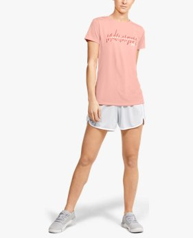 Polera Manga Corta UA Tech™ Branded Fit Kit Crew para Mujer
