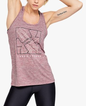 Playera sin Mangas UA Tech™ Graphic Twist para Mujer