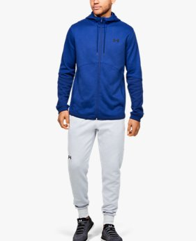 Moletom de Treino Masculino Under Armour Double Knit Full Zip Hoodie