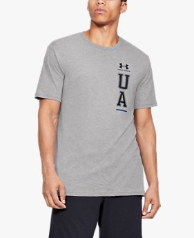 Camiseta de Treino Masculina Under Armour Vertical Left Chest