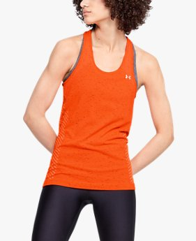 Damen UA Seamless Tanktop in melierter Optik
