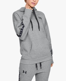 Women's UA Fleece Taped Wordmark Hoodie