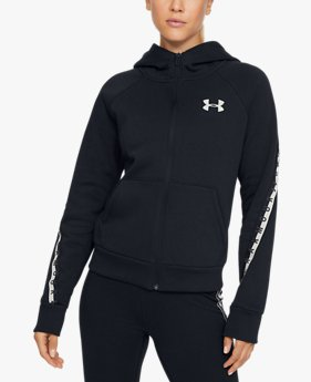 Women's UA Fleece Taped Wordmark Full Zip Hoodie