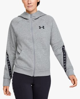 Felpa UA Taped Fleece Full Zip da donna