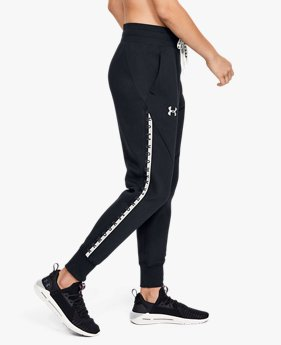 Pantalon UA Fleece Taped Wordmark pour femme