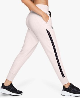 Women's UA Fleece Taped Wordmark Trousers