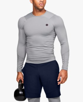 Herenshirt UA RUSH™ HeatGear® Compression met lange mouwen
