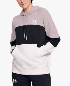 Women's UA Rival Fleece Color Block Hoodie