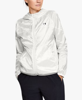 Women's UA Woven Translucent Full Zip