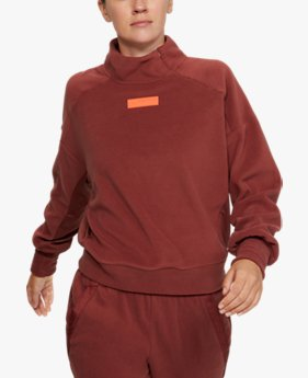 Damen UA Trek Polar Fleece mit Mock-Kragen