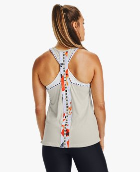 Damen UA Upstream Camo Tanktop