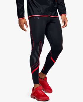 Legging UA Qualifier Speedpocket HeatGear® Graphic pour homme