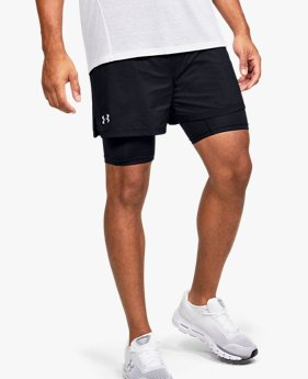 Herenshorts UA Qualifier Speedpocket 2-in-1