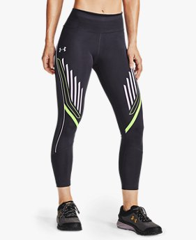 Damen UA Qualifier Speedpocket Crop-Hose mit Grafik