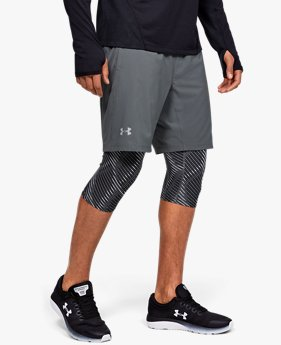 Herenshorts UA Launch SW Long 2-in-1 Printed