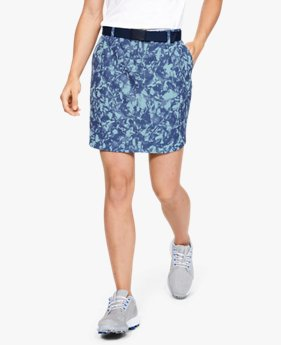Damen UA Links Stoff-Skort mit Aufdruck
