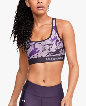 Women's Armour® Mid Crossback Intl Women's Day Sports Bra