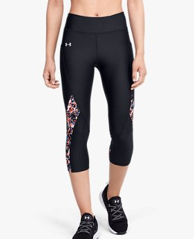 Women's HeatGear® Armour Print Inset Capri