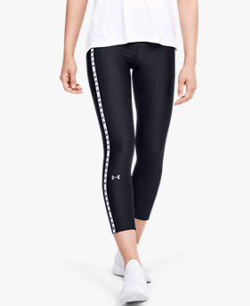 Dameslegging HeatGear® Armour Vertical Branded Ankle Crop