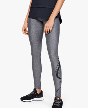 Women's HeatGear® Armour Graphic Swerve Wordmark Leggings