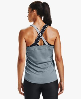 Women's HeatGear® Armour Wordmark Double Strap Tank