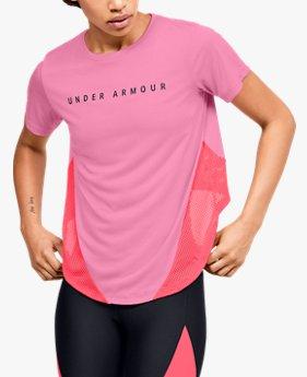 Women's HeatGear® Armour Sport Mesh Panel Short Sleeve