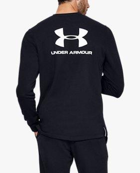 Herren UA Sportstyle Rundhals-Oberteil aus French-Terry-Stoff mit Logo